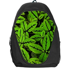 Nature Print Pattern Backpack Bag