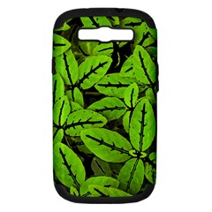 Nature Print Pattern Samsung Galaxy S Iii Hardshell Case (pc+silicone)
