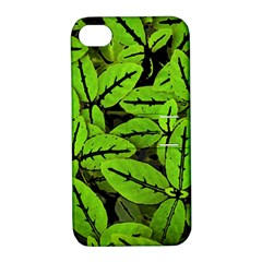 Nature Print Pattern Apple Iphone 4/4s Hardshell Case With Stand