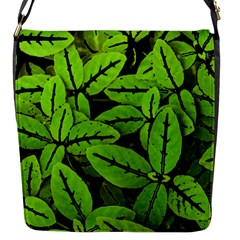 Nature Print Pattern Flap Messenger Bag (s)