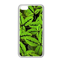 Nature Print Pattern Apple Iphone 5c Seamless Case (white)