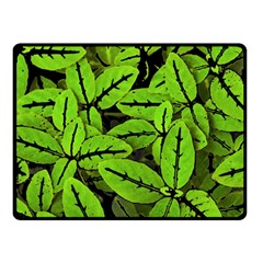 Nature Print Pattern Double Sided Fleece Blanket (small)