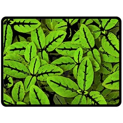 Nature Print Pattern Double Sided Fleece Blanket (large)