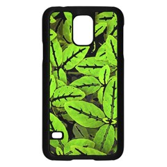 Nature Print Pattern Samsung Galaxy S5 Case (black)