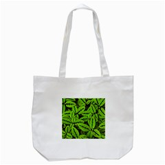 Nature Print Pattern Tote Bag (white)