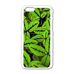 Nature Print Pattern Apple Iphone 6/6s White Enamel Case