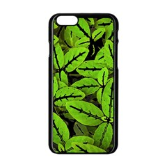 Nature Print Pattern Apple Iphone 6/6s Black Enamel Case