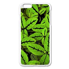 Nature Print Pattern Apple Iphone 6 Plus/6s Plus Enamel White Case