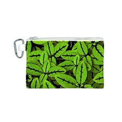 Nature Print Pattern Canvas Cosmetic Bag (s)