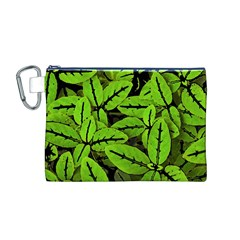 Nature Print Pattern Canvas Cosmetic Bag (m)
