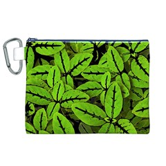 Nature Print Pattern Canvas Cosmetic Bag (xl)