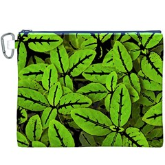 Nature Print Pattern Canvas Cosmetic Bag (xxxl)