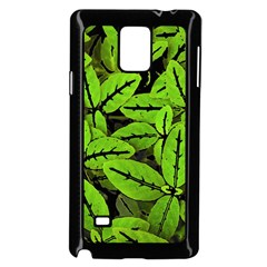 Nature Print Pattern Samsung Galaxy Note 4 Case (black)