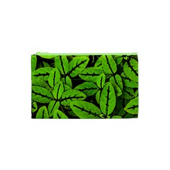 Nature Print Pattern Cosmetic Bag (xs)