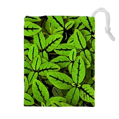 Nature Print Pattern Drawstring Pouches (extra Large)