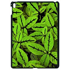 Nature Print Pattern Apple Ipad Pro 9 7   Black Seamless Case