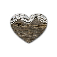 Shabbychicwoodwall Rubber Coaster (heart)
