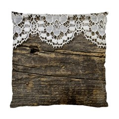 Shabbychicwoodwall Standard Cushion Case (two Sides)
