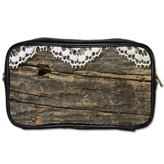 Shabbychicwoodwall Toiletries Bags 2 Side