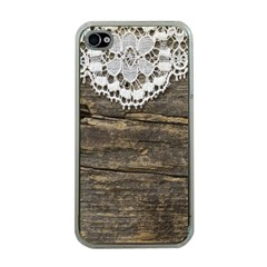 Shabbychicwoodwall Apple Iphone 4 Case (clear)