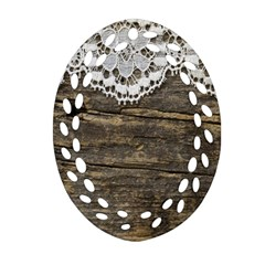 Shabbychicwoodwall Ornament (oval Filigree)