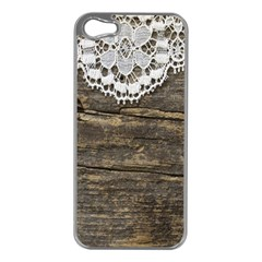 Shabbychicwoodwall Apple Iphone 5 Case (silver)