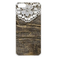 Shabbychicwoodwall Apple Iphone 5 Seamless Case (white)
