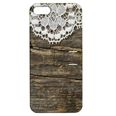 Shabbychicwoodwall Apple Iphone 5 Hardshell Case With Stand