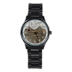 Shabbychicwoodwall Stainless Steel Round Watch