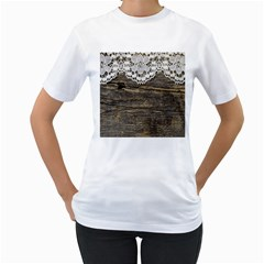 Shabbychicwoodwall Women s T Shirt (white)