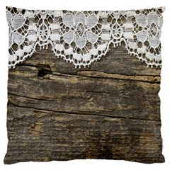 Shabbychicwoodwall Standard Flano Cushion Case (two Sides)