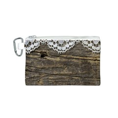Shabbychicwoodwall Canvas Cosmetic Bag (s)