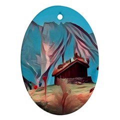 Modern Norway Painting Ornament (oval)