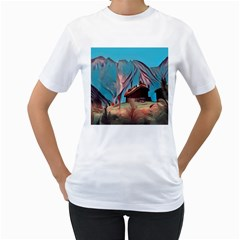 Modern Norway Painting Women s T Shirt (white) (two Sided)
