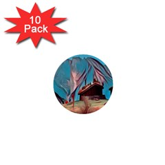 Modern Norway Painting 1  Mini Buttons (10 Pack)