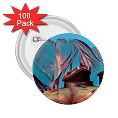 Modern Norway Painting 2 25  Buttons (100 Pack)