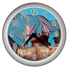 Modern Norway Painting Wall Clocks (silver)