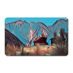 Modern Norway Painting Magnet (rectangular)