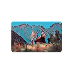 Modern Norway Painting Magnet (name Card)
