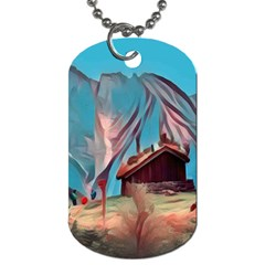 Modern Norway Painting Dog Tag (one Side)
