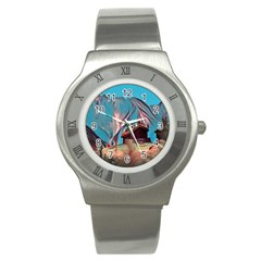Modern Norway Painting Stainless Steel Watch