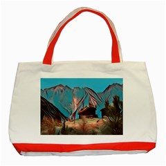 Modern Norway Painting Classic Tote Bag (red)