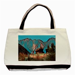 Modern Norway Painting Basic Tote Bag (two Sides)