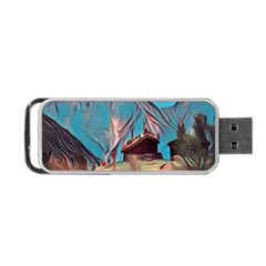 Modern Norway Painting Portable Usb Flash (two Sides)