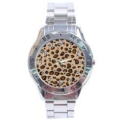 Leopard Print Stainless Steel Analogue Watch