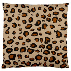 Leopard Print Large Cushion Case (one Side)