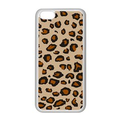 Leopard Print Apple Iphone 5c Seamless Case (white)