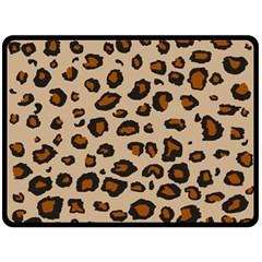 Leopard Print Double Sided Fleece Blanket (large)