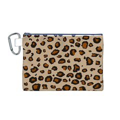 Leopard Print Canvas Cosmetic Bag (m)