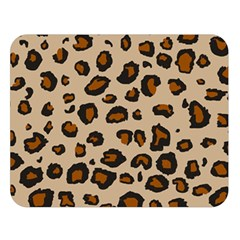 Leopard Print Double Sided Flano Blanket (large)